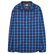 Buy Joules Lyndhurst Brush Check Shirt, Navy Online at johnlewis.com