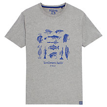 Buy Joules Harborough Fishing Print T-Shirt, Grey Online at johnlewis.com