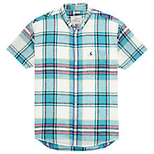 Buy Joules Wilson Short Sleeve Shirt, Jade Check Online at johnlewis.com