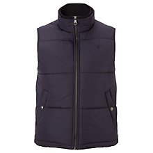 Buy Gant The Pier Quilted Gilet, Navy Online at johnlewis.com