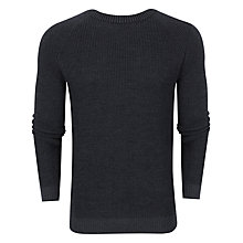 Buy Ted Baker Reeko Rib Panelled Jumper, Charcoal Online at johnlewis.com