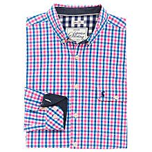 Buy Joules Hewney Slim Fit Mini Check Shirt, Pink Mini Check Online at johnlewis.com