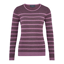 Buy Viyella Stripe Jumper, Purple Online at johnlewis.com