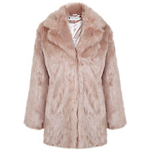Buy Miss Selfridge Faux Fur Coat, Pink Online at johnlewis.com