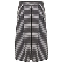 Buy Miss Selfridge Stripe Midi Skirt, Grey Online at johnlewis.com