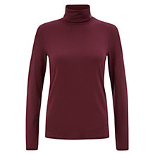 Buy Hobbs Mischa Roll Neck, Merlot Online at johnlewis.com