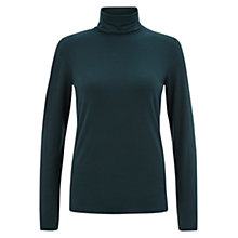 Buy Hobbs Mischa Roll Neck, Celtic Green Online at johnlewis.com