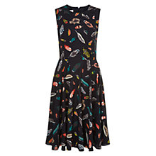 Buy Hobbs Aideen Dress, Navy/Ivory Online at johnlewis.com