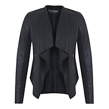 Buy Miss Selfridge Waterfall Jacket, Black Online at johnlewis.com
