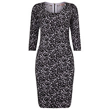 Buy Phase Eight Hallie Print Dress, Black/Lilac Online at johnlewis.com