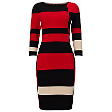 Buy Phase Eight Mackenzie Colour Block Dress, Red/Black Online at johnlewis.com