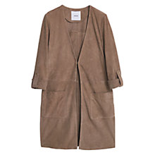 Buy Mango Suede Jacket, Light Pastel Grey Online at johnlewis.com
