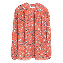 Buy Mango Floral Print Blouse, Medium Orange Online at johnlewis.com