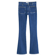 Buy Mango Flared Denim Trousers, Open Blue Online at johnlewis.com