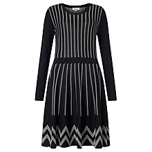 Buy Somerset by Alice Temperley Peplum Jacquard Dress, Black Online at johnlewis.com
