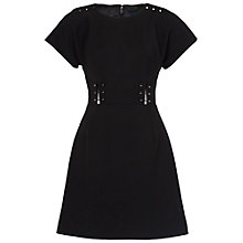 Buy French Connection Glass Stretch Round Neck Dress, Black Online at johnlewis.com