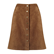 Buy Phase Eight Tamsin Suede A-Line Skirt, Camel Online at johnlewis.com