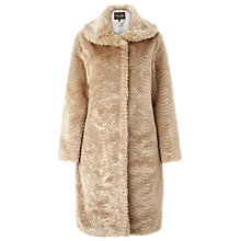 Buy Phase Eight Ceri Faux Fur Coat, Champagne Online at johnlewis.com