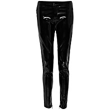 Buy French Connection Patent Zip Up Skinny Trousers, Black Online at johnlewis.com