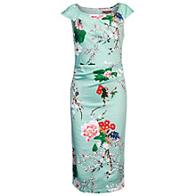 Buy Jolie Moi Oriental Floral Print Dress, Aqua Online at johnlewis.com