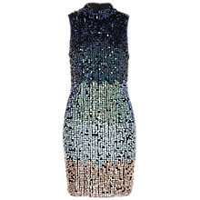 Buy French Connection Cosmic Beam Dress, Utility Blue Multi Online at johnlewis.com