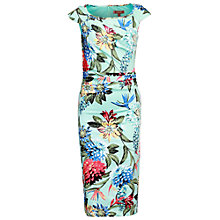 Buy Jolie Moi Floral Ruched Dress, Aqua Online at johnlewis.com