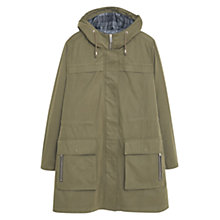 Buy Violeta by Mango Long Coat, Green Online at johnlewis.com