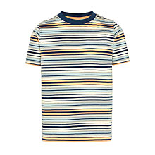 Buy John Lewis Boys' Fashion Stripe T-Shirt, Blue Multi Online at johnlewis.com