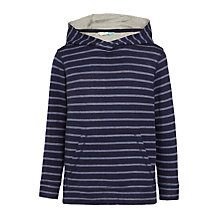 Buy John Lewis Boys' Stripe Double Face Hoodie, Navy Online at johnlewis.com