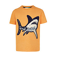 Buy John Lewis Boys' Totally Jawsome T-Shirt, Coral Online at johnlewis.com