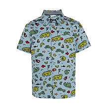 Buy John Lewis Boys' Treasure Print Shirt, Blue/Multi Online at johnlewis.com