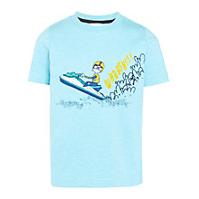 Buy John Lewis Boy's Whoosh Jet Ski T-Shirt, Aqua Online at johnlewis.com