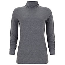 Buy Phase Eight Ginia Roll Neck Top, Charcoal Online at johnlewis.com