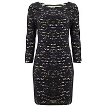 Buy Phase Eight Stripe Lace Tunic Dress, Black/Oatmeal Online at johnlewis.com
