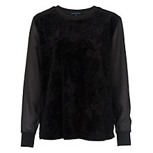 Buy French Connection Downtown Velvet Top, Black Online at johnlewis.com