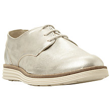 Buy Dune Elvyss White Sole Trainer, Silver Online at johnlewis.com