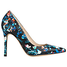 Buy L.K. Bennett Fern Court Shoes, Black Lizard Online at johnlewis.com