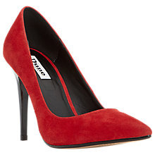 Buy Dune Azara High Heel Court Shoes, Red Suede Online at johnlewis.com