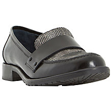 Buy Dune Granada Leather Contrast Vamp Loafers Online at johnlewis.com