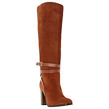 Buy Dune Sheena Suede Ankle Strap Detail Knee High Boot Online at johnlewis.com