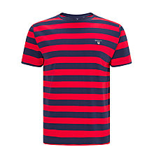 Buy Gant Bar Stripe T-Shirt, Red/Navy Online at johnlewis.com