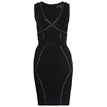 Buy French Connection Frosted Spotlight Bodycon Dress, Black Online at johnlewis.com
