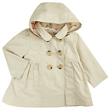 Buy John Lewis Baby Hood Mac, Cream Online at johnlewis.com