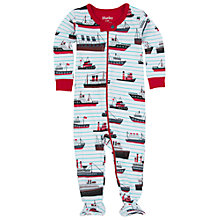 Buy Hatley Baby Tanker Boat Sleepsuit, Cream Online at johnlewis.com