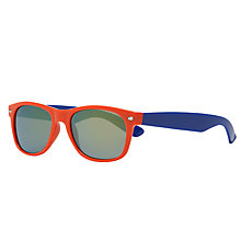 Buy John Lewis Boys' Colour Block Wayfarer Sunglasses, Orange/Blue Online at johnlewis.com