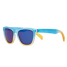 Buy John Lewis Boys' Ombre Wayfarer Sunglasses, Blue/Yellow Online at johnlewis.com