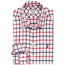 Buy Thomas Pink Aris Check Classic Fit Shirt, White/Red Online at johnlewis.com
