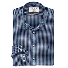 Buy Thomas Pink Hedley Check Slim Fit Shirt, Navy/White Online at johnlewis.com