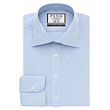 Buy Thomas Pink Davenport Textured Slim Fit Shirt, Pale Blue/White Online at johnlewis.com