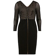 Buy Gina Bacconi Braided Net Dress With Mesh Sleeves, Black Online at johnlewis.com